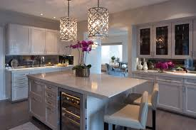 Kitchen Island Pendant Lights Extra Long Kitchen Island With Gray Barstools Transitional