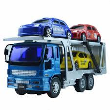 camion porta auto piccola serie doppio rimorchio camion trasporto auto per bambini