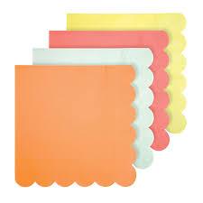 paper napkins bright neon coloured large paper napkins by meri meri vibrant home