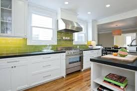 eco friendly milk paint on shaker inspired cabinets yellow kitchen