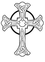 tattoo coloring pages cross coloringstar