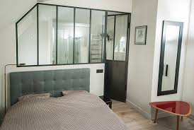 chambre avec salle de bain emejing salle de bain verriere chambre contemporary antoniogarcia