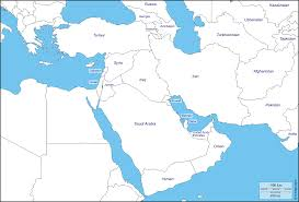 Map Of Isreal Of Israel Jordan Syria And Lebanon