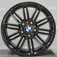 black bmw 1 series genuine bmw 1 series 207 m sport 17 inch black alloy wheels x4
