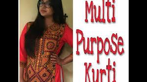 29 how to design a multi purpose kurti youtube