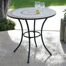 Bistro Patio Table And Chairs Dining Room Round Mosaic Bistro Table With Black Legs For Home