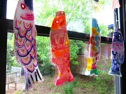 Japanese Fish Flag Cassie Stephens In The Art Room First Grade Koinobori For