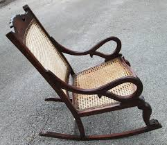 Antique Pressed Back Rocking Chair Antique Barbados Mahogany Rocking Chair With Caned Bottom And Back