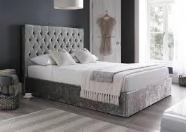 sapphire upholstered ottoman storage bed glitz silver ottoman