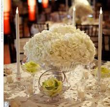 White Hydrangea Centerpiece by I Like This Idea For Centrepieces Wedding Pinterest