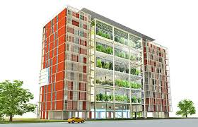 Chinese Design Winner HighRise With Vertical Hydroponics - Sustainable apartment design