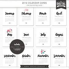 3x4 calendar cards journaling cards