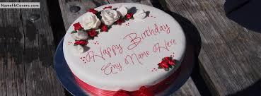 write name on happy birthday cakes fb covers