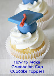 graduation cake toppers how to make graduation cap cupcake toppers tutorial bakes