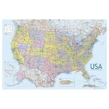 map of us states poster united states of america usa large wall map educational poster 61