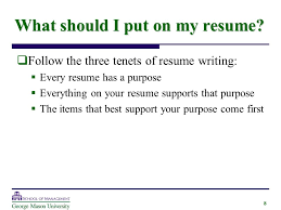 What Should A Great Resume by Writing A Great Resume Created By George Mason University Ppt
