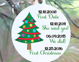 Wedding Ornaments Personalized Personalized Christmas Ornaments Wedding Etsy