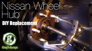 nissan wheel bearing hub replacement murano youtube