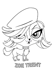 littlest pet shop coloring pages zoe coloringstar