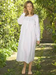 smocked long sleeve cotton nightdress lunn antiques