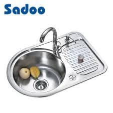China Premium Single Kitchen Round Sink W Small Size Drainboard - Kitchen sink small size