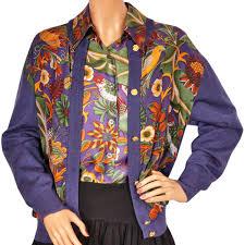 purple silk blouse vintage 1980s salvatore ferragamo silk blouse and sweater set birds an