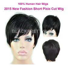 short hairstyle wigs for black women rihanna natural black short cut lace front wig human hair lace