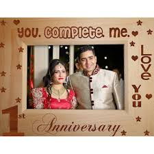 1st anniversary gifts 1st anniversary gift wooden photo frame