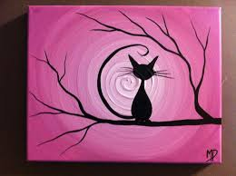 cat halloween background images halloween black cat painting etsy happy halloween pinterest