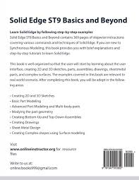 learn 2d and 3d shapes solid edge st9 basics and beyond online instructor 9781541010352