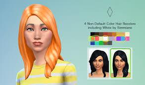 custom hair for sims 4 non default hair recolors sims 4 custom content