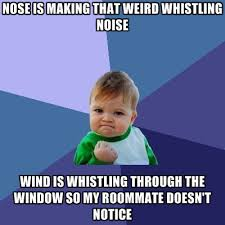 Whistle Meme - nose is making that weird whistling noise wind is whistling through