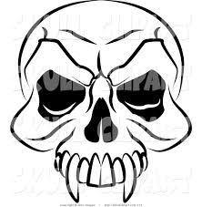 halloween skeleton silhouette royalty free black and white stock skull designs