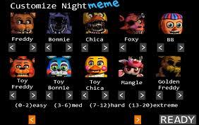 Customize Meme - fnaf 2 customize night meme by tapejara on deviantart