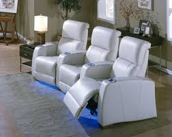 Livingroom Theater Most Comfortable White Leather Living Room Theater Seating With