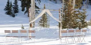 wedding arch log empire lodge at deer valley resort weddings