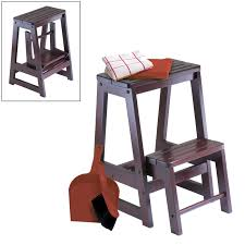 furniture dark wooden step stool for cozy kids furniture design