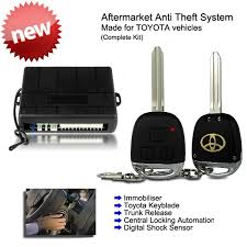toyota car and remotes aftermarket toyota remote keyless entry key fob anti theft