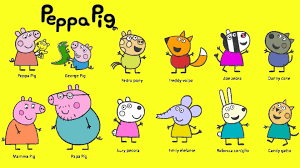 learn colours peppa pig friends colouring