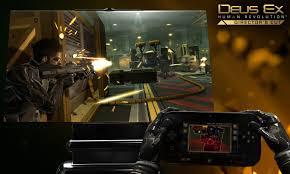deus ex human revolution wii u screenshots show off gamepad