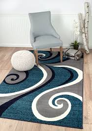 Navy White Area Rug New Summit No 32swirl Blue Navy White Light Gray Area Rug Abstract