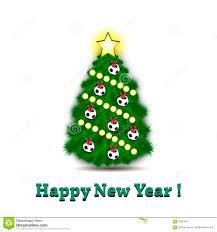 christmas tree and soccer balls stock vector image 83323010