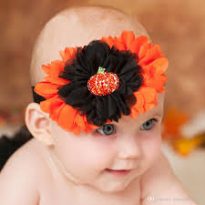 flower bands costumes baby flower headband elastic hairbands pumpkin