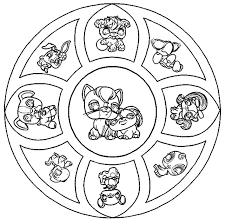 Coloriage Mandala Petshop a Imprimer Gratuit