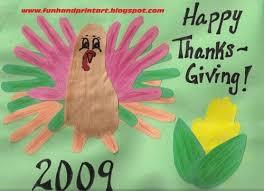 thanksgiving handprint footprint crafts list
