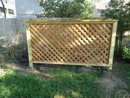 wood trellis fence u2013 outdoor decorations