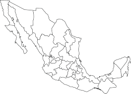 Map Of Mexico by Clipart Of A Black And White Map Of Mexico