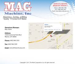 Mentor Ohio Map by Mag Machine Inc Contact Us