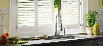 decorating custom window blinds with faux wood plantation