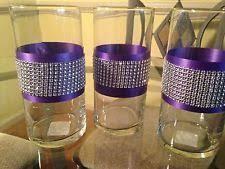 Cylinder Vase Centerpiece by Wedding Centerpieces Rhinestone Crystal Aqua Ribbon Cylinder Vases